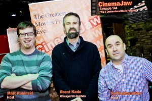 CinemaJaw's Matt and Ry with Brent Kado