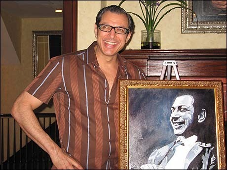 """08-26-05 Jeff Goldblum of """"The Pillowman"""" at the unveiling of his portrait for the Broadway Wall of Fame at Tony's DiNapoli restaurant on West 43rd St. Thursday night 08-26-05"""
